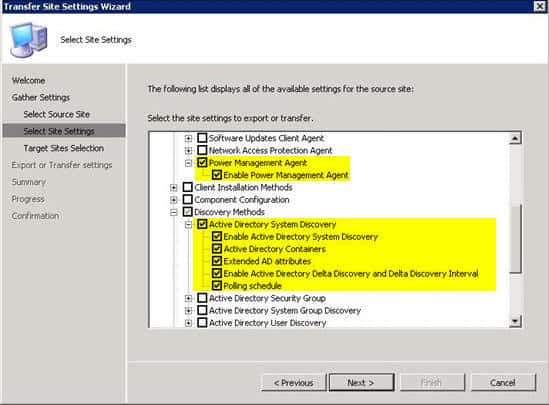 How to Use SCCM 2007 R3 Transfer Site Settings Wizard 1