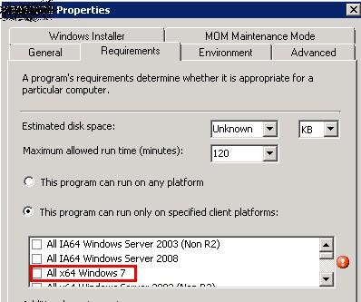 Script to Edit SCCM ConfigMgr Program Setting Under Requirement Tab