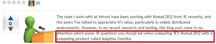 Adaptiva OneSite and 1E Nomad 10 Questions You Should Ask About Adaptiva OneSite and 1E Nomad