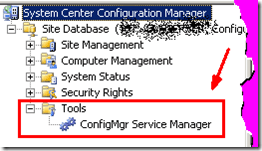 Where is ConfigMgr Service Manager Option in SCCM Console? Small, short and simple blog post.