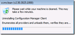 How to Uninstall or Remove SCCM client using CCMClean exe