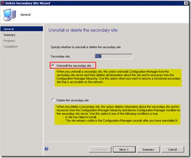 Uninstall Remove SCCM ConfigMgr CAS Primary Secondary server
