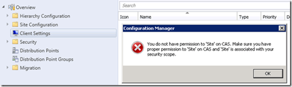FIX Default Client Settings Issue with SCCM Security Role