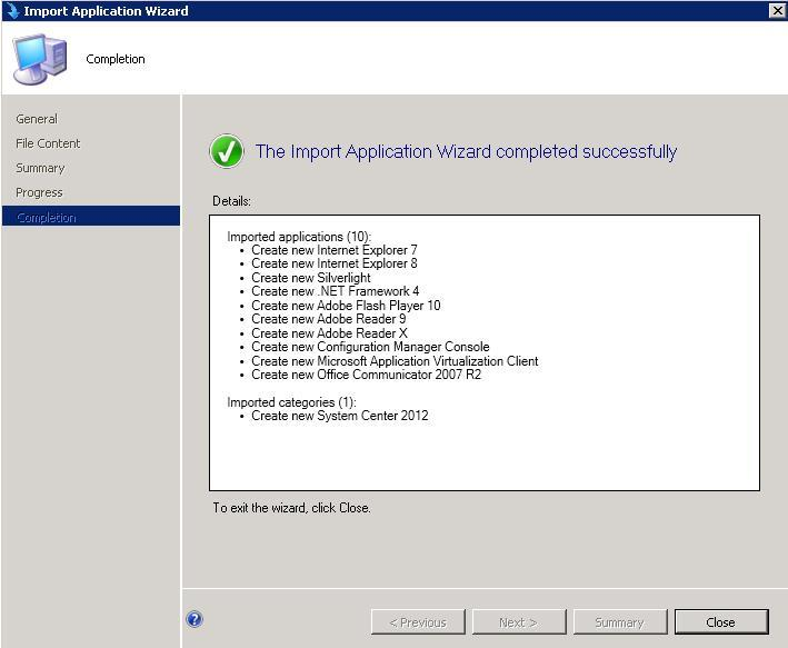ConfigMgr SCCM 2012 How to Import Pre Configured Applications 7