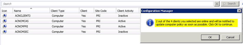 ConfigMgr SCCM 2012 SP1 How to resolve client OFFLINE issues