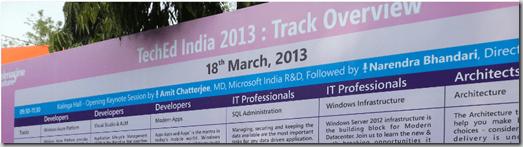 TechEd India 2013 Bangalore Takeaways Memories