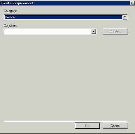 Fix SCCM ConfigMgr Tip Not Able to Create Requirement for Deployment Type