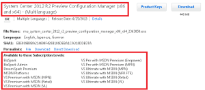 Download ConfigMgr SCCM 2012 R2 Preview 1