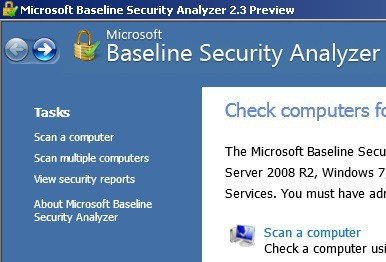 New Version of Microsoft Baseline Security Analyzer Ready to Download 1