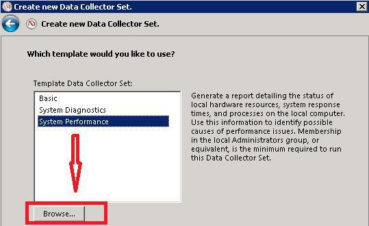 Browse DATA Collector Set - ConfigMgr Performance Counter Template | SCCM