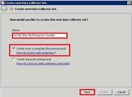 Create DATA Collector Set
