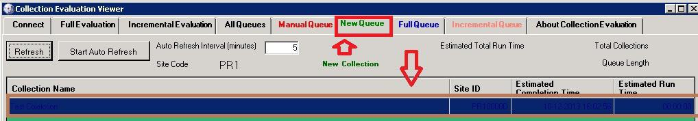Collection Evaluation New Queue