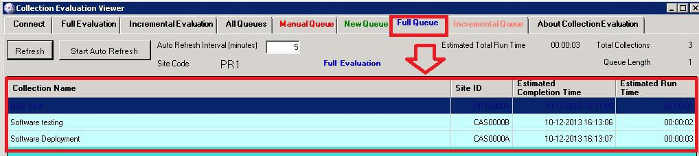 Collection Evaluation Viewer FULL EVAL QUEUE
