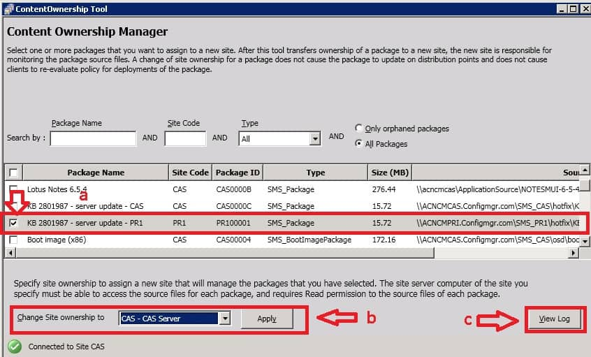 Content Ownership Manager Tool Change OwnerShip