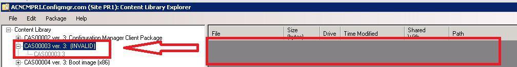 ContentLibraryExplorer Invalid Package