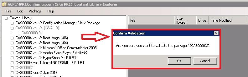 ContentLibraryExplorer Validate INVALID Package