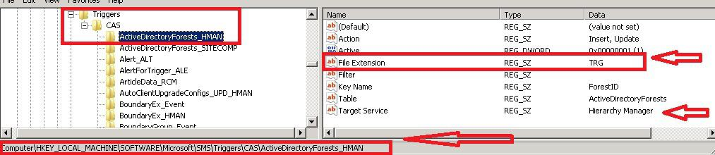 SCCM 2012 File Extensions and related components