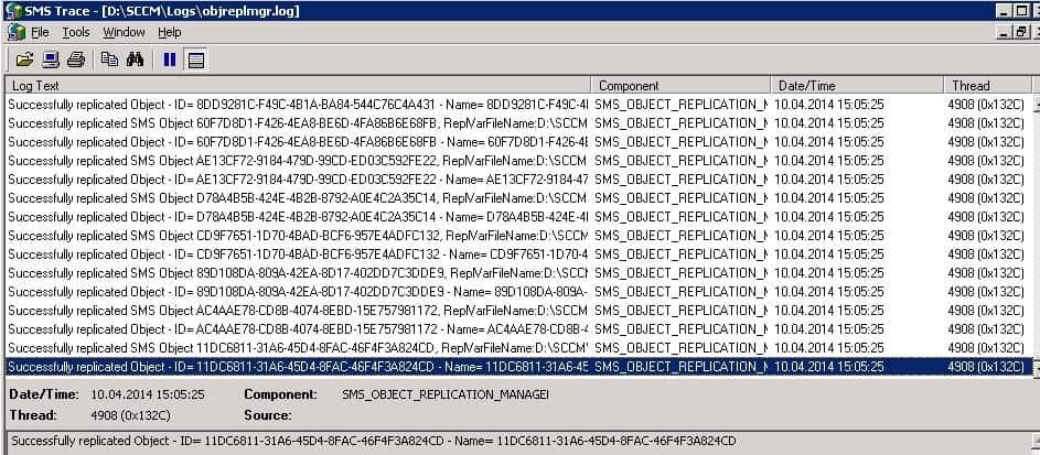 ObjReplMgr.log SCCM Software Update List Packages are not Visible on Child Primary Servers