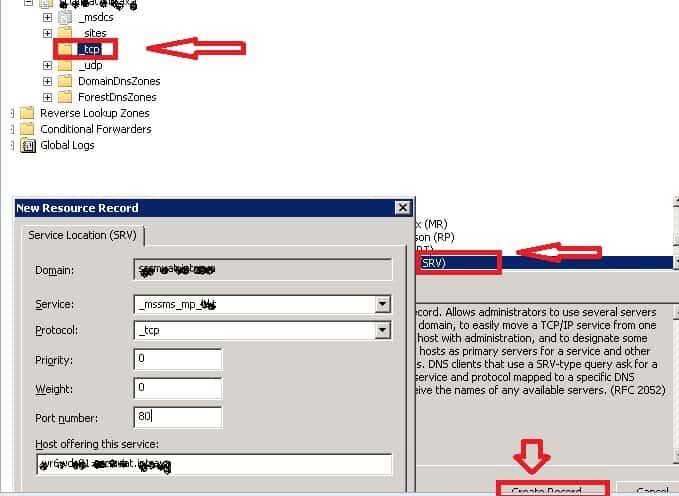 Publish SCCM 2012 MP to DNS server
