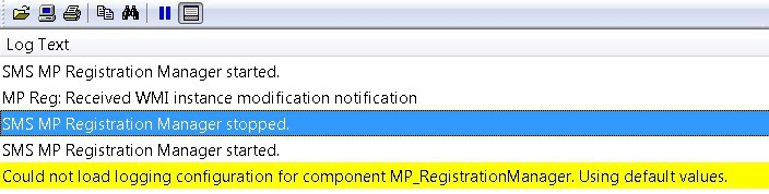 SCCM ConfigMgr MP Deinstallation failed and Client Registration Issues ConfigMgr