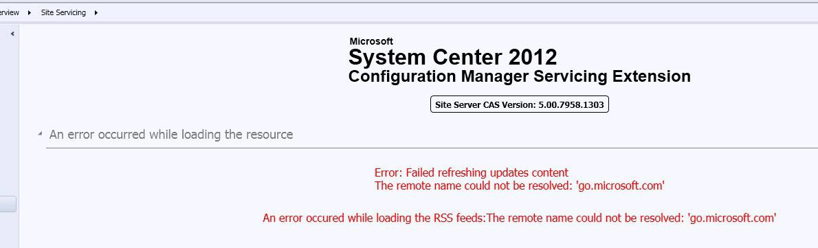 CM12 Service Extension Tool Error