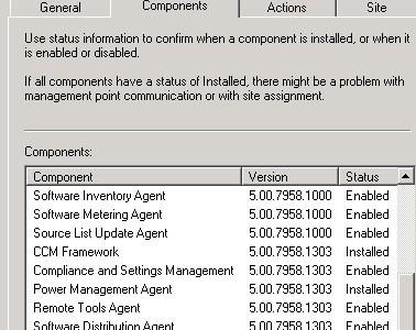 SCCM 2012 R2 CU2 Client Component versions