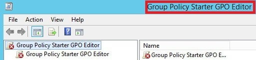 Group Policy Starter GPO Editor