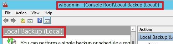 Local Backup Console Root