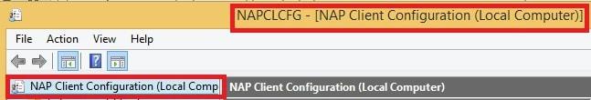 NAP Client Configuration