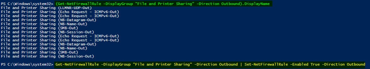 SCCM ConfigMgr Client How to Create Windows Firewall Outbound Rules Using PowerShell
