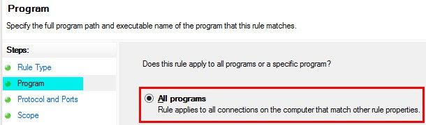 Windows Firewall Rule 10