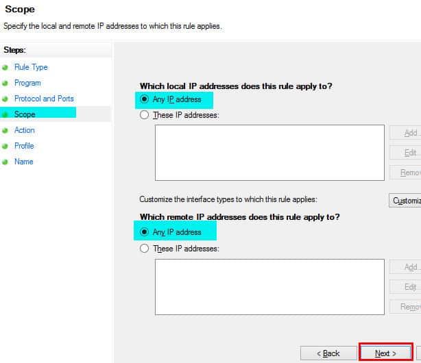 Windows Firewall Rule 13
