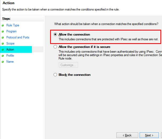 Windows Firewall Rule 14