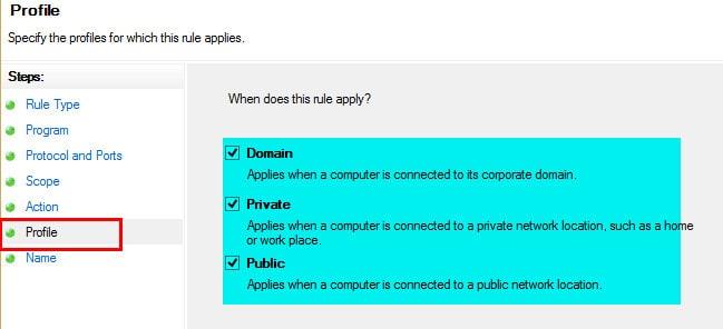 Windows Firewall Rule 15