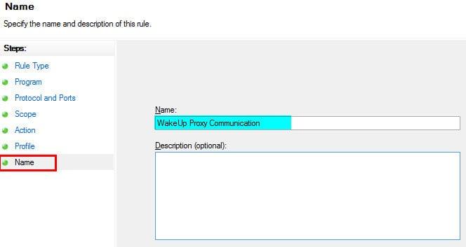 Windows Firewall Rule 16