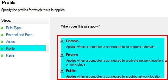 Windows Firewall Rule 20