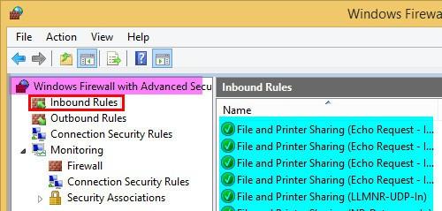 Windows Firewall Rule 22