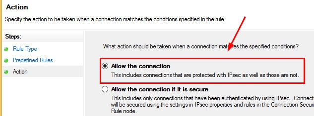 Windows Firewall Rule 5