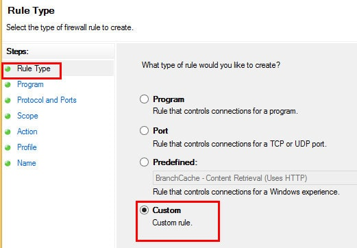Windows Firewall Rule 9