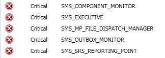 SCCM ConfigMgr Remote SQL Site System server SMS Executive component Installation failed 1