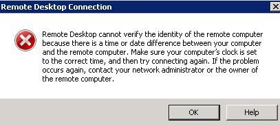 RDP Error SCCM SQL server