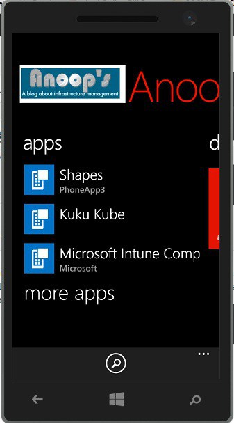 XAP Applications are not getting published in Windows Phone 8.1 via Intune Integrated SCCM 2012 R2 5