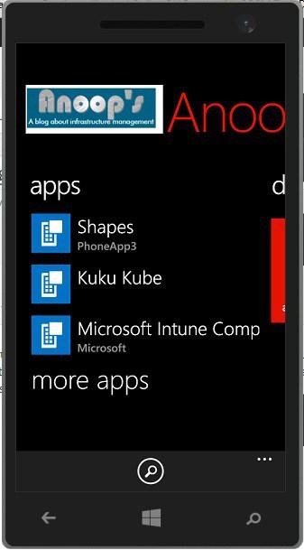 Windows Phone Company Portal