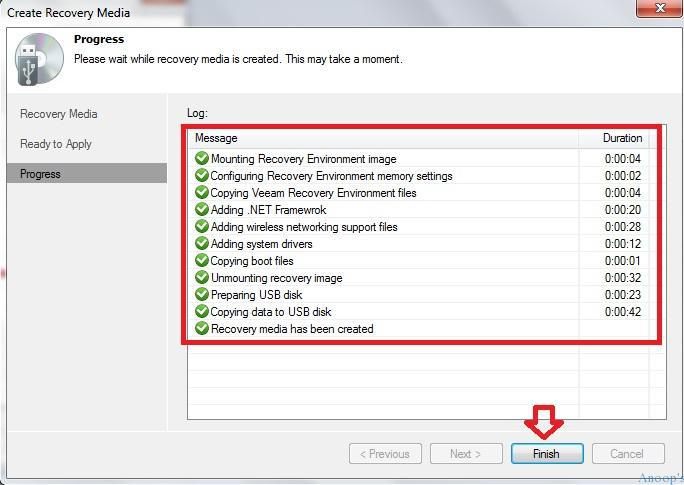 Veeam Free EndPoint Backup Recovery Media 7
