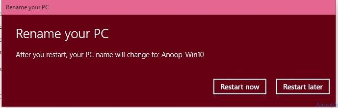 Windows Update How to Change Computer Name in Windows 10