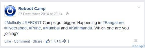 Microsoft Reboot Camp for IT Pros at Bangalore Mumbai and Hyderabad