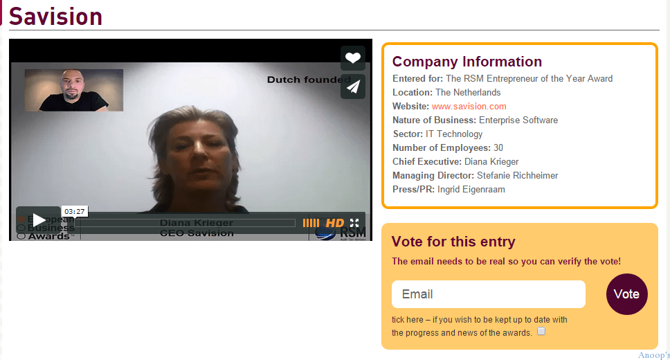 Do you know about The European Business Awards?