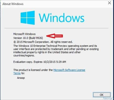Windows 10 V 9926 -14 Latest Features Included in Windows 10 New Build
