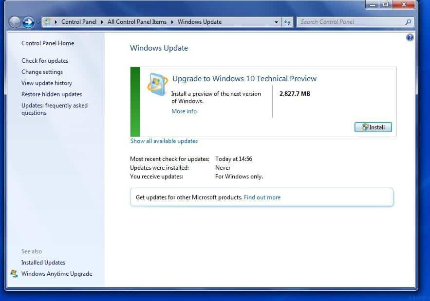 Windows 7 to 10 Upgrade - 1