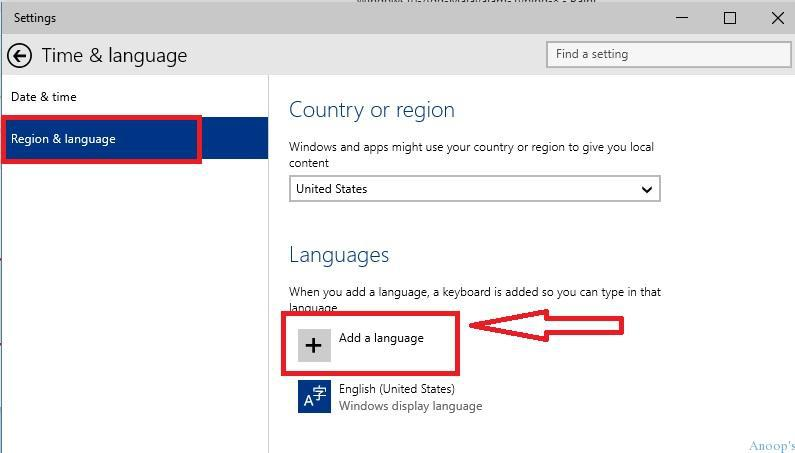 How to Add Regional Language Pack Keyboard Typing Support in Windows 10